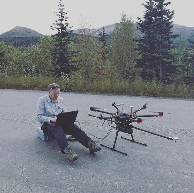 First #LiDAR flight complete! Data download in progress. #dji #m600 #m600pro