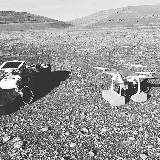 Out flying the prototype v2 LiDAR scanner today. Looked like we were on the surface of the Moon 🌙