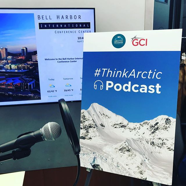 We had a ton of fun being interviewed on the #ThinkArctic podcast at the @arcticencountersymposium this morning! Subscribe on #SoundCloud and keep an eye out for us! ... #dronesaregood #arctic #alaska #drone #podcast