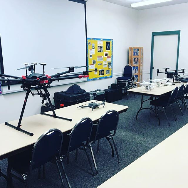 The gang is all here for a drone training in Kenai today! #drones #industry #alaska #education