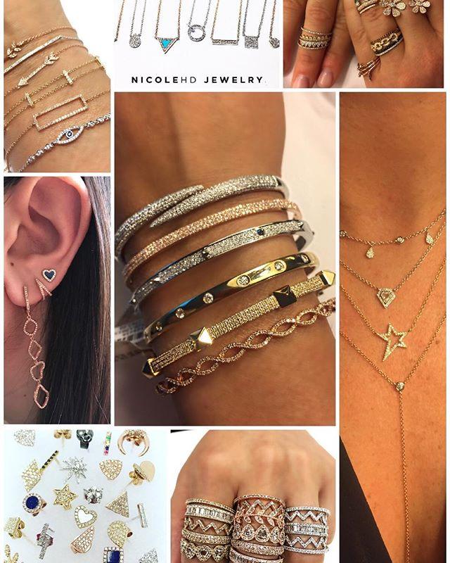 You Choose!! #nicolehdjewelry www.nicolehdjewelry.com . . #stud #earrings #ring #bangles #bracelet #necklace #diamonds #14kt #gold #love #style #summer #fall #allseasons #monday