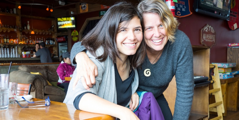 Me and my agent, Molly Ker Hawn of  The Bent Agency  at the Pub in Sitka, AK. (photo credit Dana Styber)