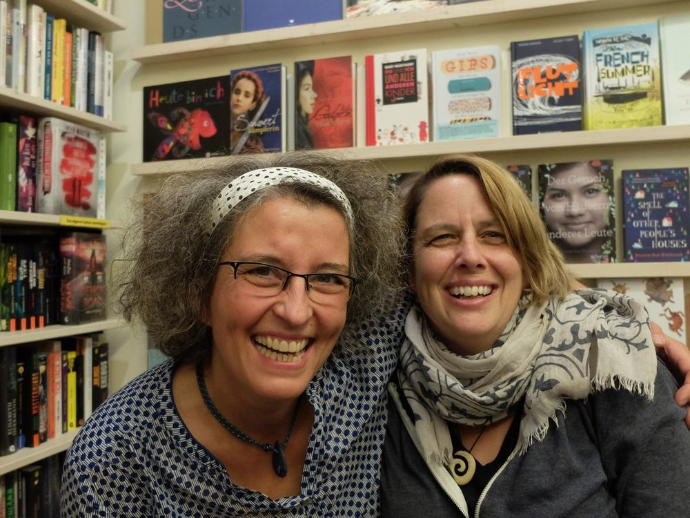 Katrin Ruger, co-owner of Buchpalast (and me, just after I woke up from a nap) Photo: Frederike Wagner