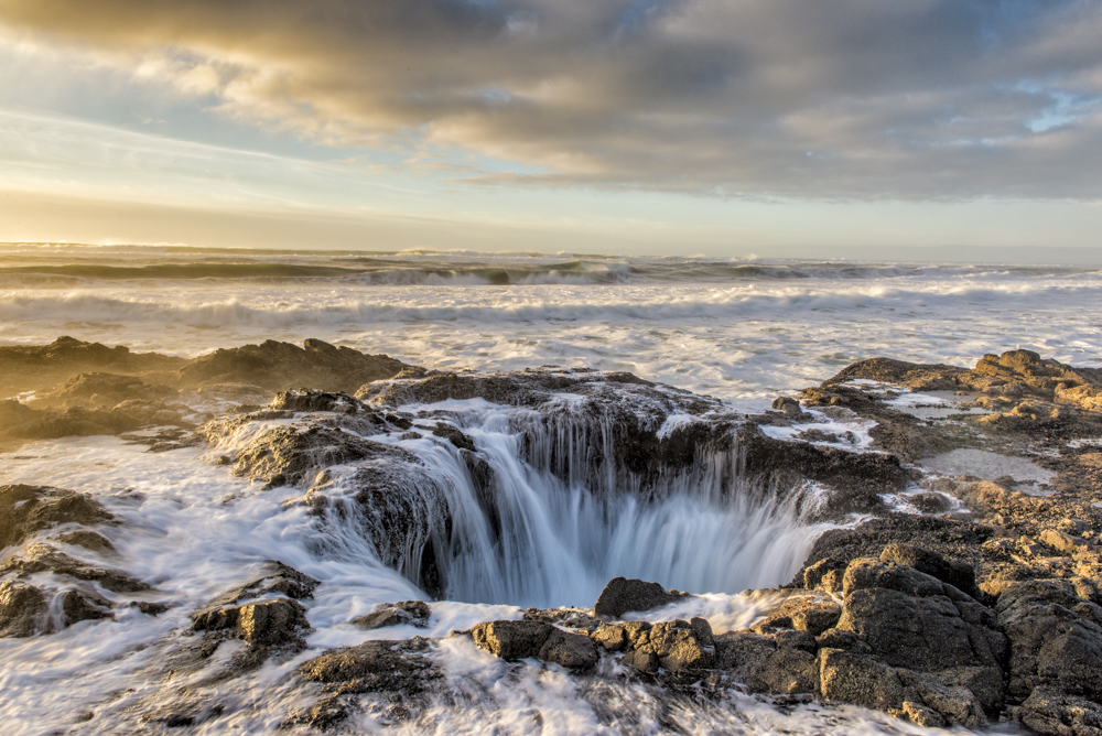 Thor's Well Sunset 2