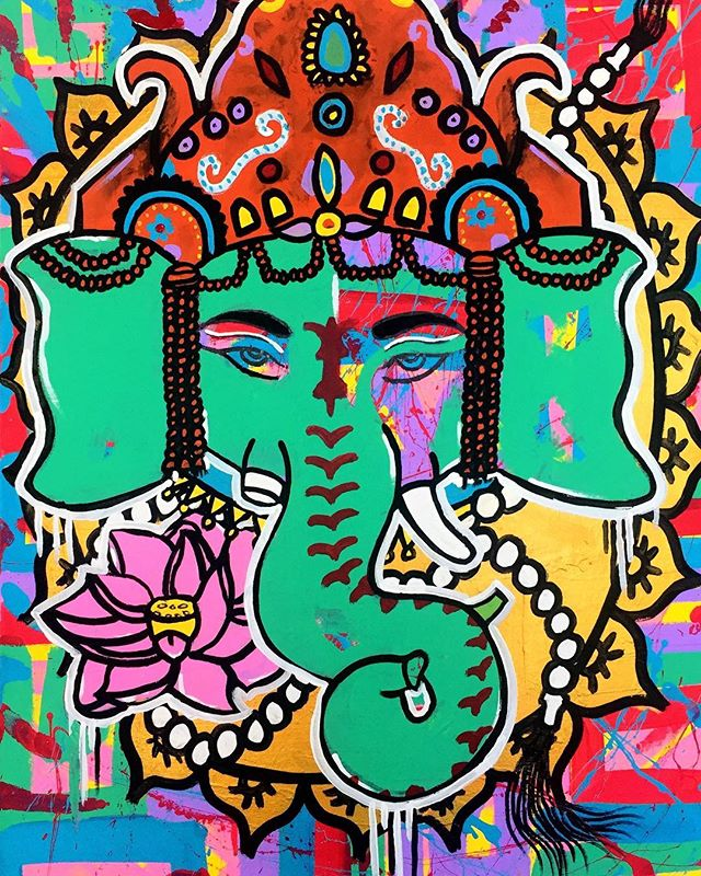 We are excited to have these beautiful paintings by artists Egypt.  Her artwork is inspired by society, culture, historical figures, street art and life experiences.  Egypt is well known for her vibrant colors and powerful images!  Images 1: Ganesha | Acrylic on Canvas | 18 x 24 in. | $100 Image 2:  Owl and Rose | Acrylic on Canvas | 16 x 20 in. | $100  Bring joy to a loved one with one of these beauties, while supporting our local talent and non-profit @TampaBayFAD ★★★★ The Center for Architecture & Design  1315 E 7th Ave., Suite 105 | Tampa, FL Regular Hours: Mon-Fri: 10:00 am - 4:00 pm Extended Hours Saturday: 4:00 - 7:00 pm  Can't make it to our store? Shop online at www.tbfad.com/2018-holiday-shop/