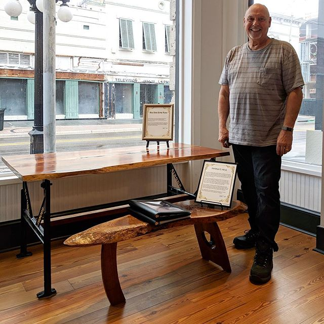Meet Joe Lawler, one of our featured artists for our latest exhibit, ARTchitecture! See his award winning works and much more at the grand opening of ARTchitecture on Friday, February 22nd at 5:30 at The Center for Architecture and Design —————— Joe creates one of a kind live edge tables that feature inspiration from early century architecture and Japanese tradition. —————— #tampa #tampaart #architecture #gallery #tampaevents #artsandculture #tampabay #fourthfridaytampa
