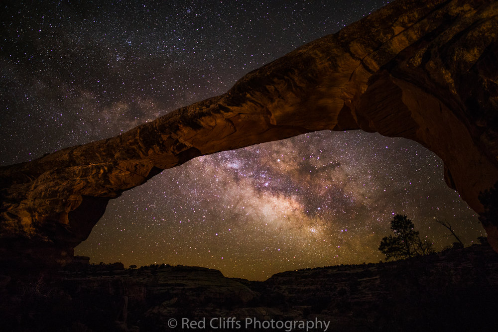 The clear night on Saturday allowed us to get some Milky Way shot after the moon set around 1 am. We sat in the cold 30 degrees night for 6 hours to get these shots. Natural Bridges is one of the darkest night skies in the National Park system and well worth visiting for some star gazing in the summer. Next time I will talk about the second week back at work.