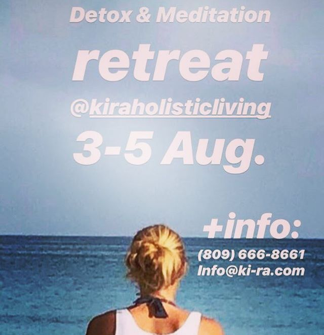 Go deep, reconnect, be still, discover you 🧘‍♀️🌴🧘‍♀️ #retreat #meditation #yoga #breathe #detox #truth #live #love #laugh #holistic #dominicanrepublic #kiraholisticliving #thankyouNel