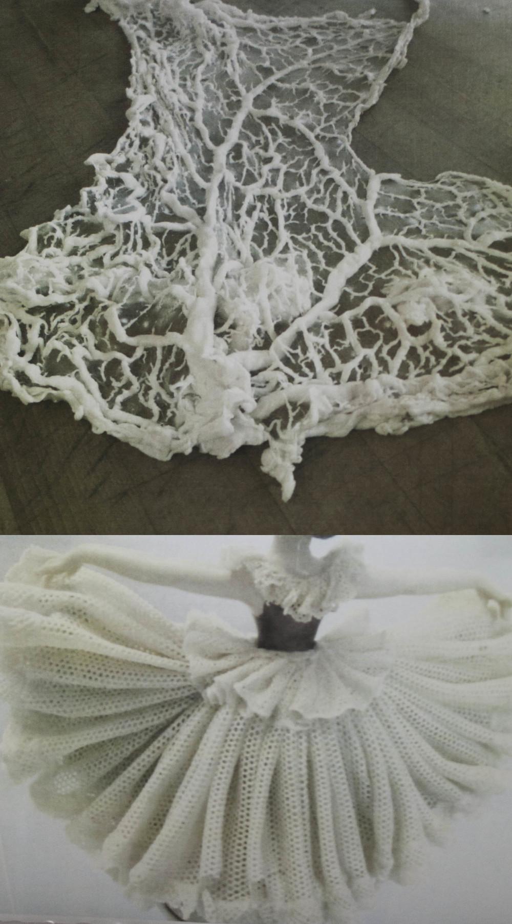Investigando la técnica de porcelana Dresden, queriendo hacer  de tripas porcelana .
