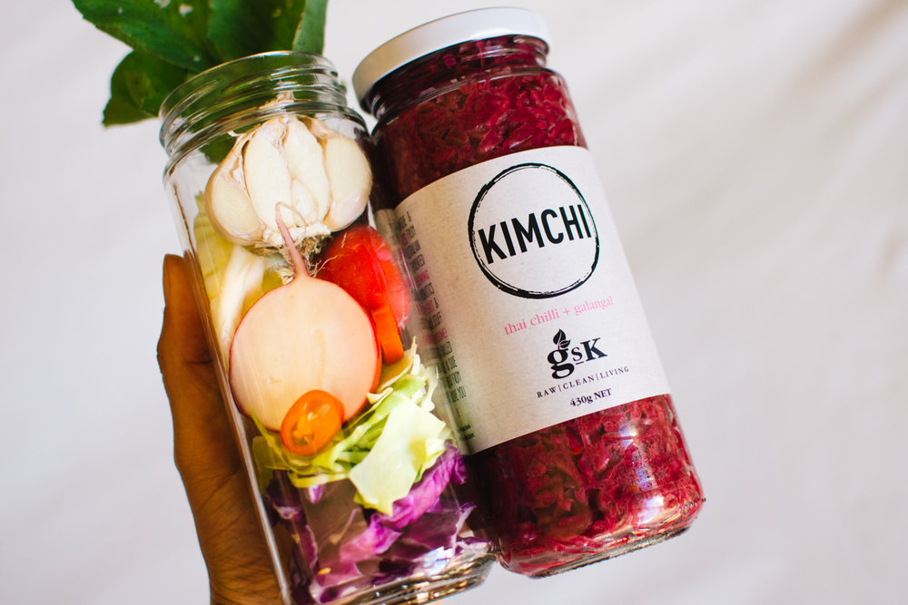 Our Kimchi is packed full of fresh, raw & local ingredients.