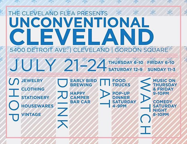 TONIGHT go see our friends @clevelandflea and YANA from @saloseries for some solid #filipinofood in gordon square! then stop by @graffiticle for a cocktail on the patio 🌅 I'll be mixing em up! ✊ #theland #thisiscle