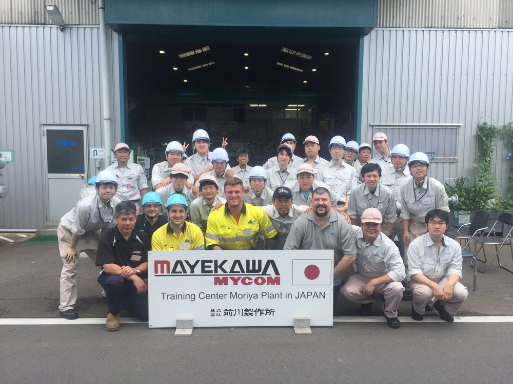 Team Tri Tech Technicians attending Mayekawa Mycom Training Centre – Moriya Plant JAPAN - July, 2017