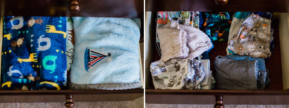 We decided to use this dresser that we picked up lightly used as our changing table! I'm so glad we did because all those adorable cloth diapers take up a lot of space!