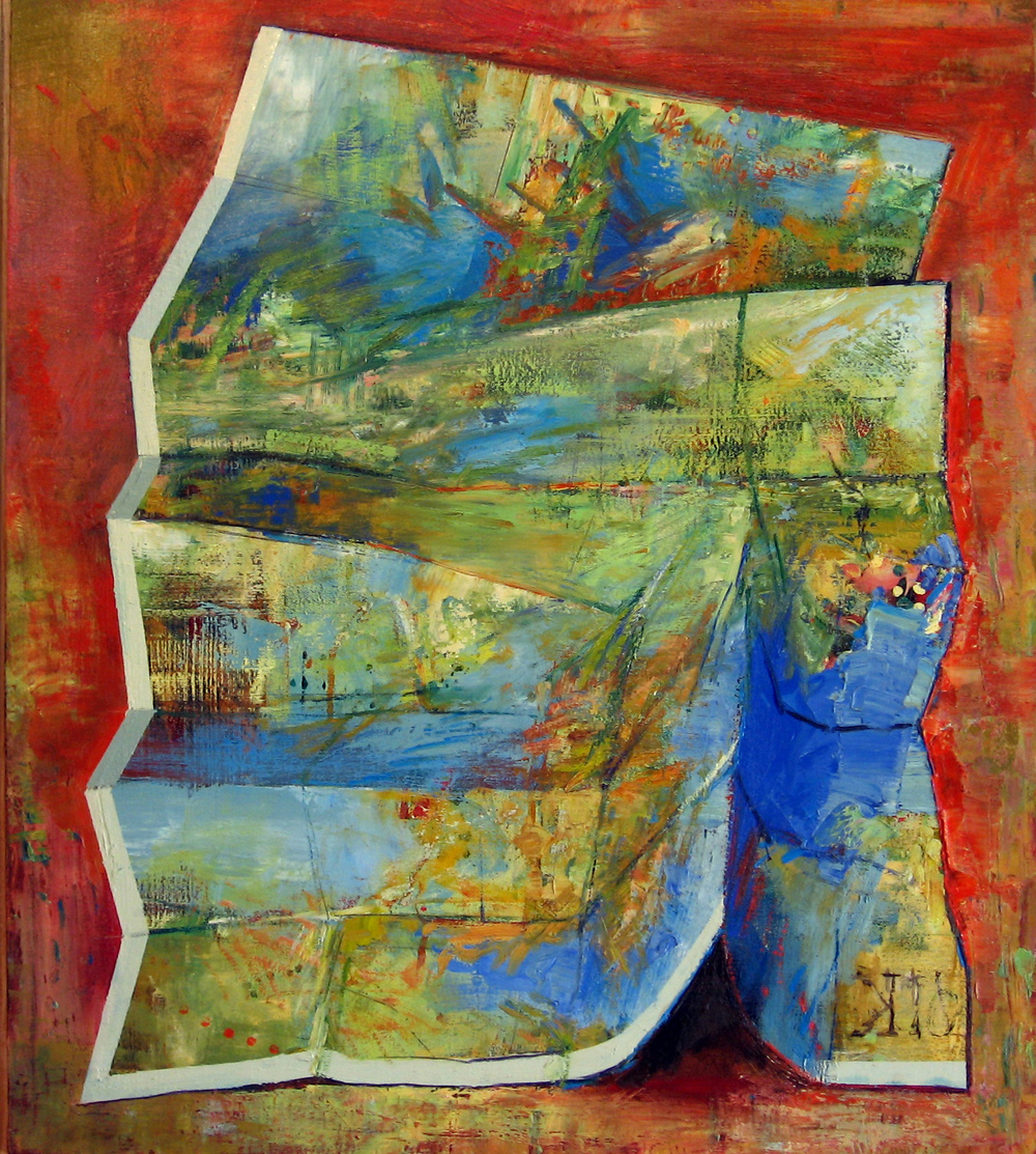 Study for Orange Map oil on canvas 70 x 60cm