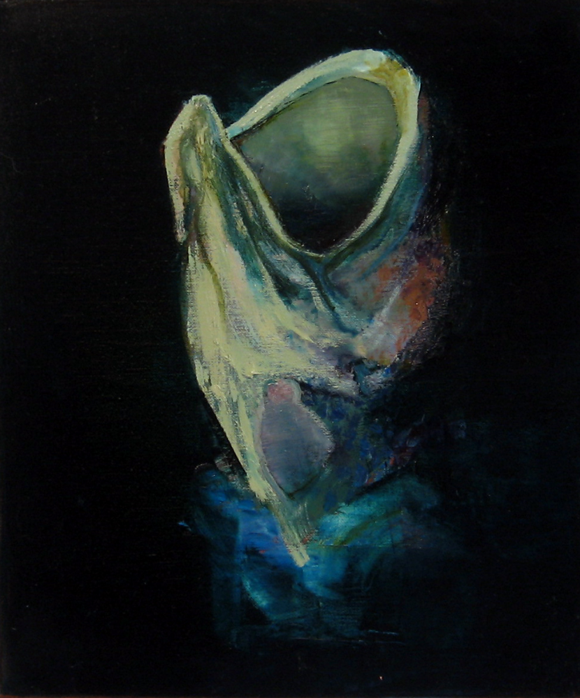 Study for Wemblyware oil on canvas 35 x 30cm
