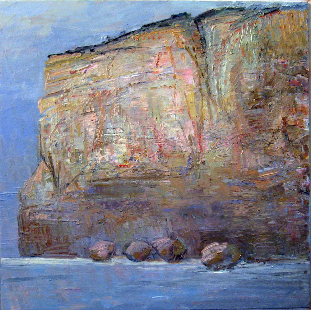 Jan Juc Cliff-Face oil on canvas 60 x 60cm