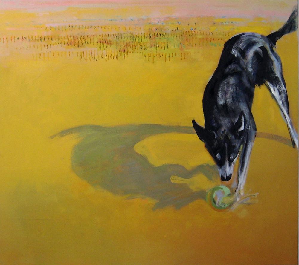 Dog VIII oil on canvas 135 x 152cm
