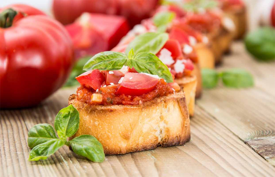 bruschetta and crostini