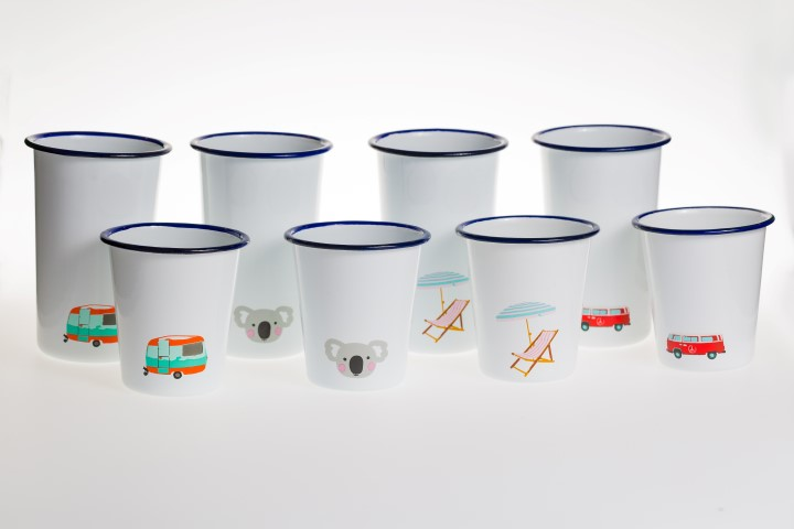 My Beach Kitchen Enamel Tumblers