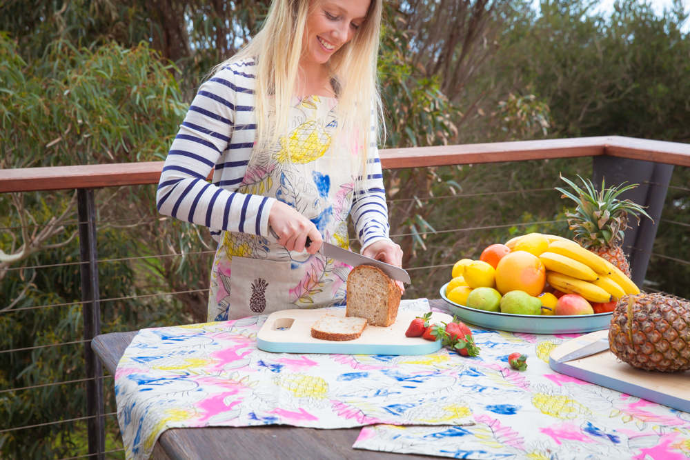 Winti Tropicana Apron and Extra large T-Towel sheet by My Beach Kitchen