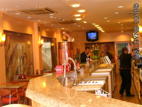 spain Archena Murcia Spa Resort town modern cafe chocolate ice cream shop