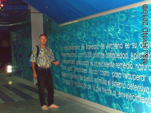 spain Archena Murcia Spa Resort Balneario de  Archena  mineral medicinal spring town underground carpark