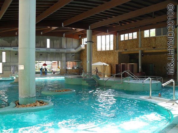 spain Archena Murcia Spa Resort Balneario de  Archena  mineral medicinal spring town inside Spa thermal complex, freeform pool, upper spa pools