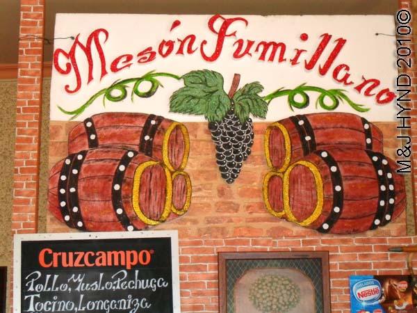 spain Jumilla, Murcia, Meson Jumilliano cafe, restaurant sign