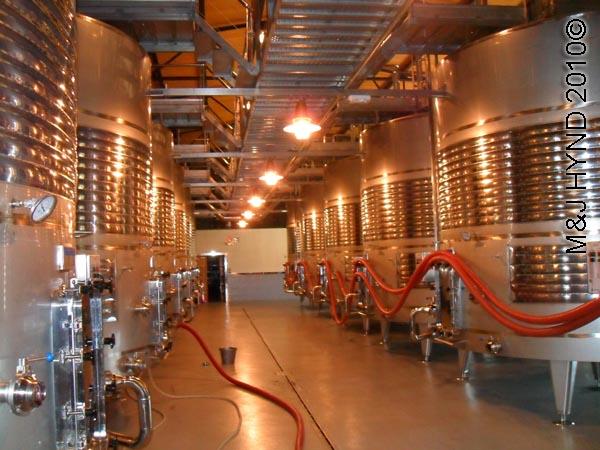 spain Jumilla, Murcia, wine route Hacienda del carche Bodegas wine tour, aging wine process stainless steel vats