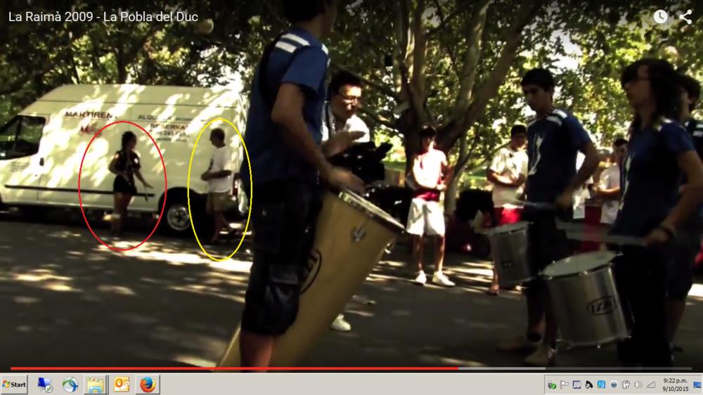 spain La Pobla del Duc, Fiesta La Raima, Battle of the Grapes, band music troupe, enjoying samba beats in park