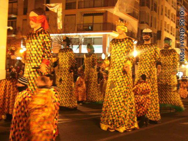 gigantes: spain Alicante Carnival Fiesta, Costa Blanca, dancing giants parade, defiles gigante
