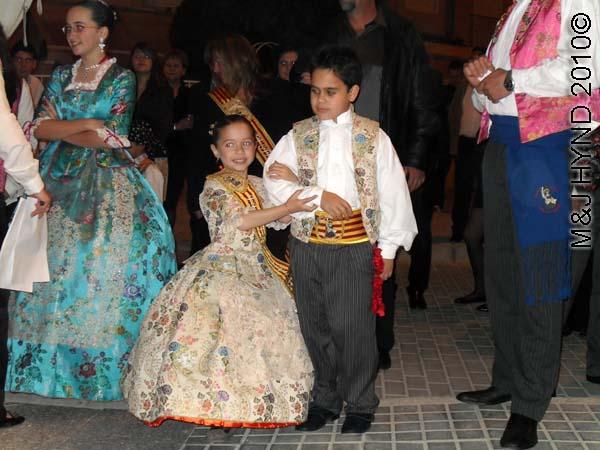 little boy+girl: spain perleta maitino St Vicente de Ferrer Fiesta, ladies-in-waiting, traditional long gowns, tuxedos, kings, queens, junior winner's sashes