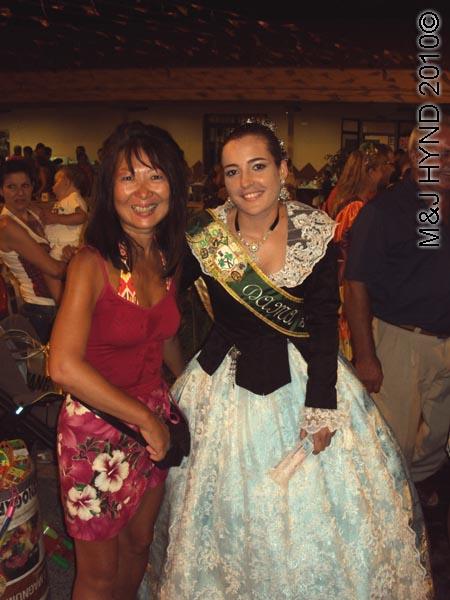 jacq+anna : spain valverde fiesta  La Virgen de Santa Ana, traditional long ballgown lace mantilla, Dama of Fiesta