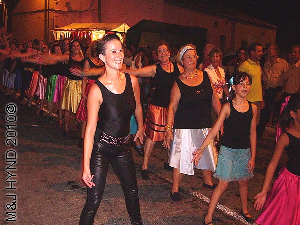charanga #2: spain valverde fiesta  La Virgen de Santa Ana, parades, dance modern multi-coloured procession