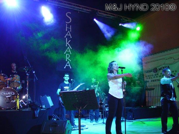 bandstand: spain valverde fiesta  La Virgen de Santa Ana, bands on stage