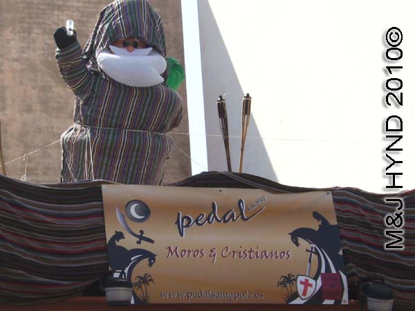 boozing imam: spain Santa Pola Annual Fiesta, Moors and Christian celebration, Moorish bar