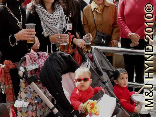 kids in prams: spain Santa Pola Annual Fiesta, celebrate all the family, babies in prams