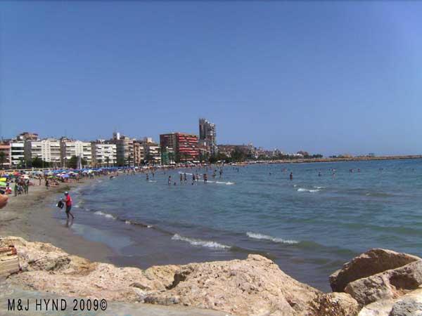 Spain, Playa Levante; closest urban beach to the centre of Santa Pola