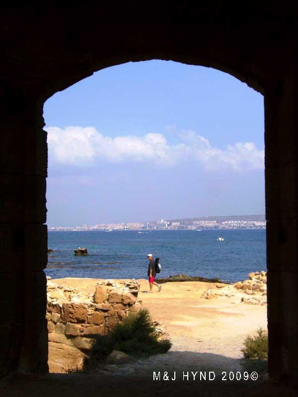 Spain isla Tabarca  marine nature reserve  island end portal see Santa Pola across the Mediterranean sea