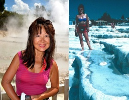 Taupo, Wairakei Terrace Thermal Health Spa, Pamukkale, Cotton Castle, Turkey, natural steam hot mineral springs, geochemistry, travertine teracces, stalactities, stalagmites