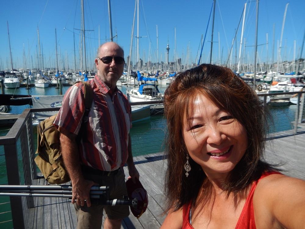 Jacqui Hynd: stroke survivor - Westhaven marina, Auckland city, NZ