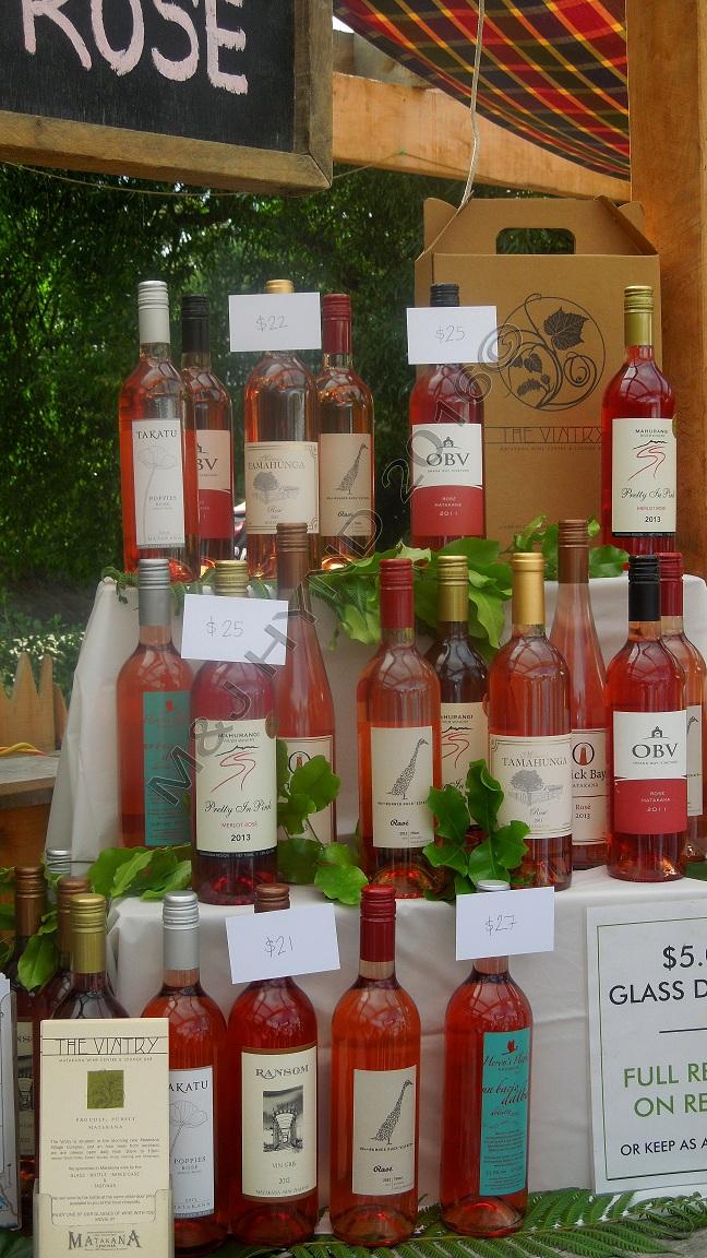 local Rosé wine...