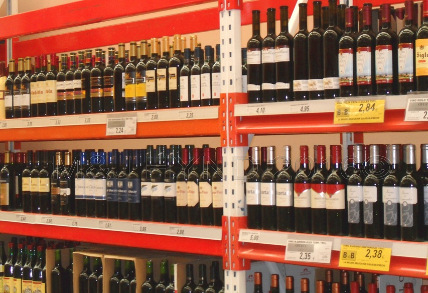 Supermarket - very cheap red wine