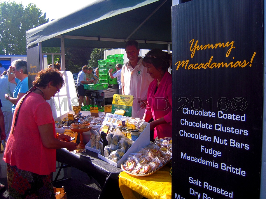 locally grown macadamias, Gisborne Farmers Market, NZ