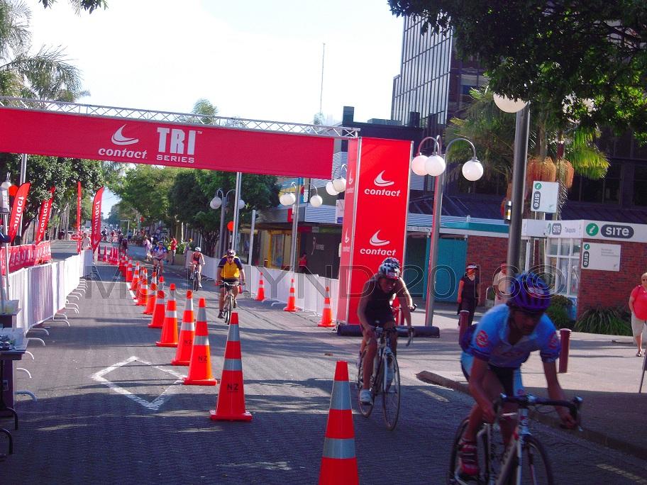 triathlon series street racing, Takapuna, NZ