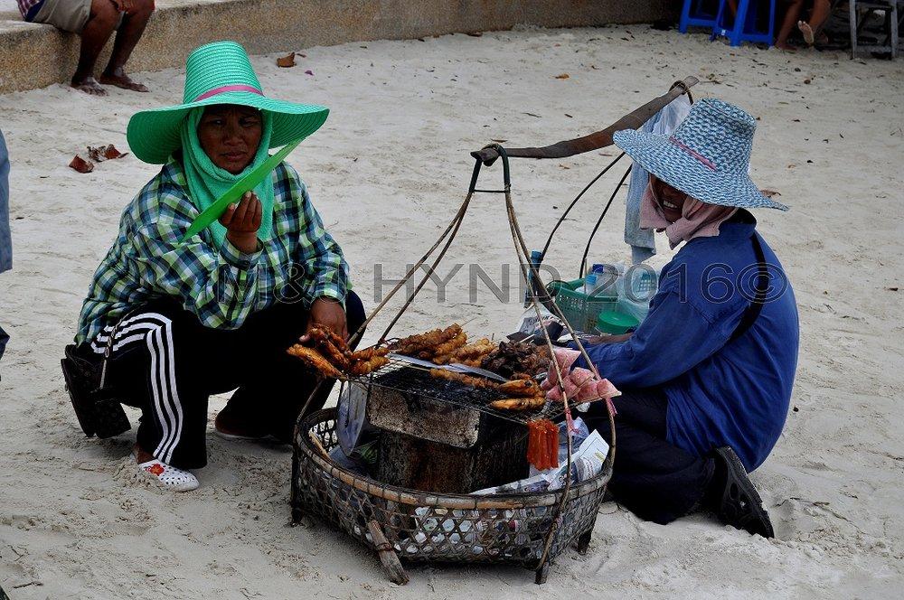 Beach vendor satay, Koh Samui, Thailand