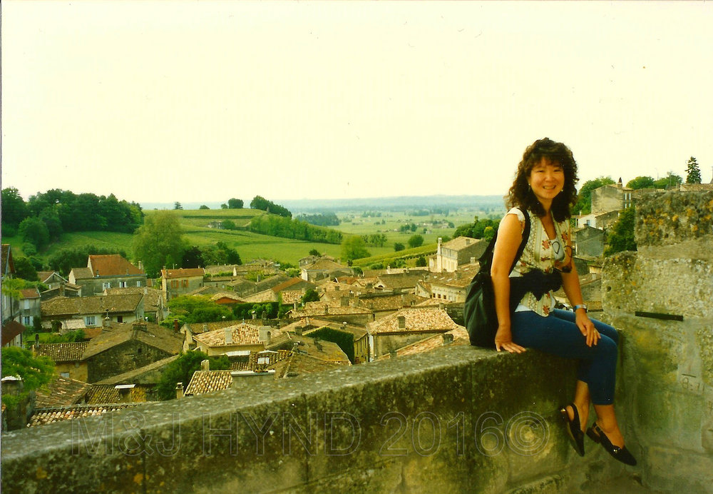 ancient village, tile roofs, countryside, St. Emilion, Gironde, France