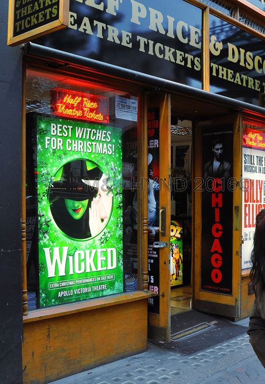 Leicester Square Discount tickets, Wicked musical, London, UK