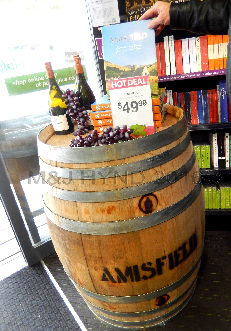 Amisfield Winery cook book, Lake Hayes, Central Otago, NZ