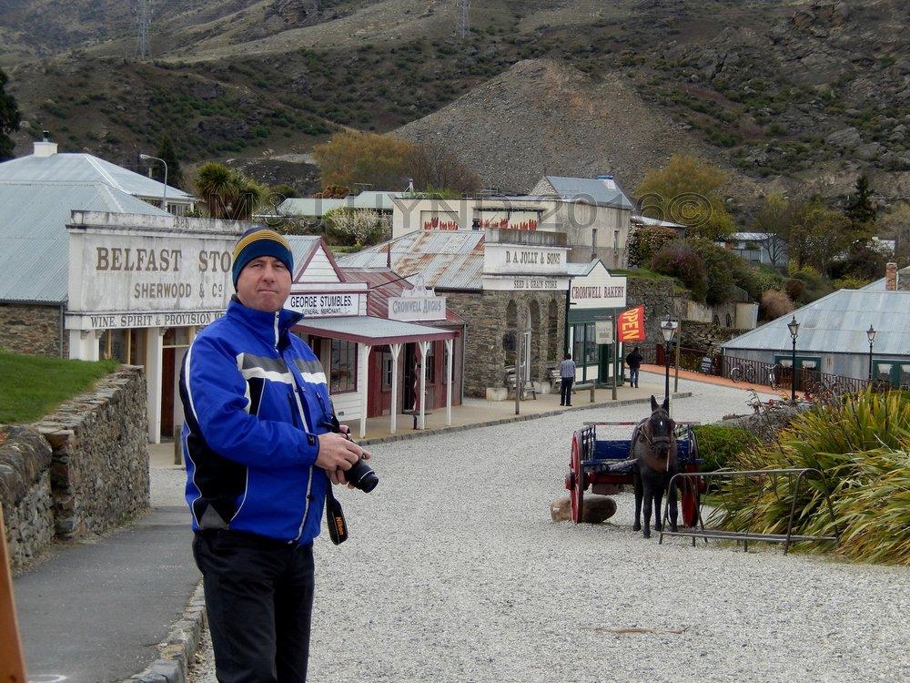 Old Cromwell Town Historic  Precinct main street, Central Otago, NZ